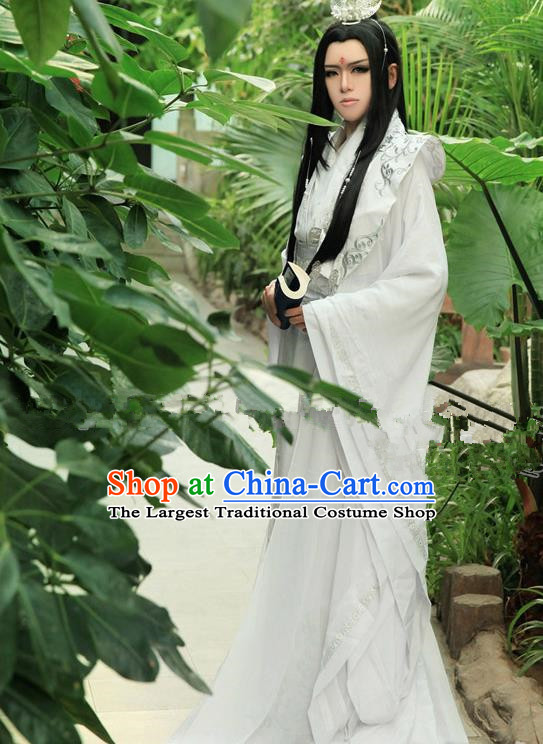Chinese Ancient Swordsman Prince Hanfu Han Dynasty Nobility Childe Costume for Men