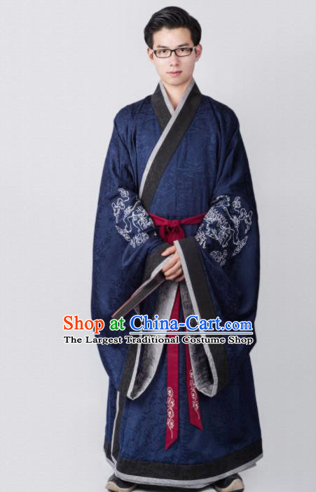 Chinese Ancient Minister Clothing Traditional Han Dynasty Chancellor Costume for Men