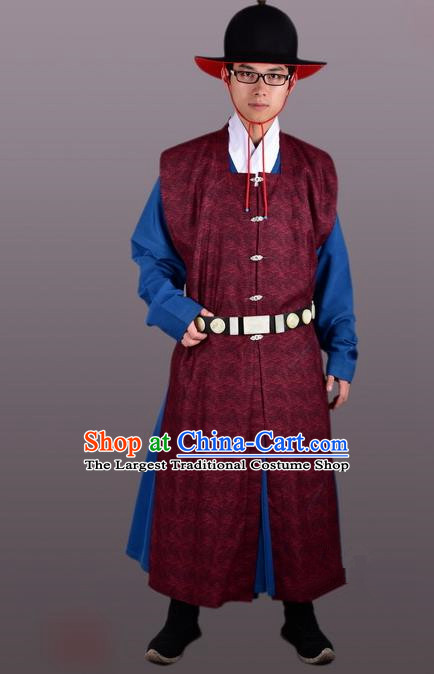 Chinese Ancient Traditional Ming Dynasty Swordsman Costumes Complete Set for Men
