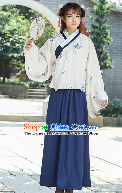 Chinese Traditional Ming Dynasty Nobility Lady Costume Ancient Embroidered Hanfu Dress for Rich Women