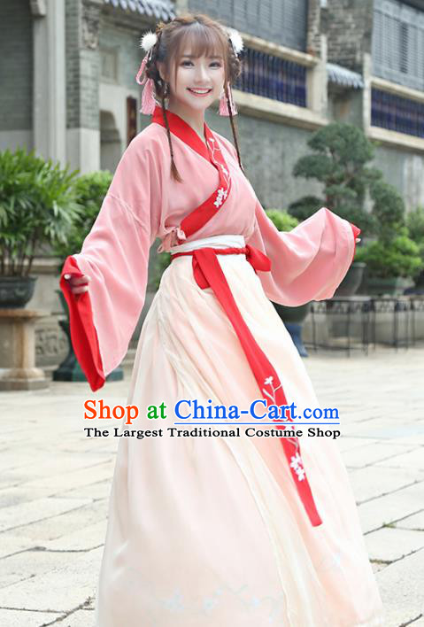 Chinese Traditional Nobility Lady Costume Ancient Embroidered Hanfu Dress for Rich Women