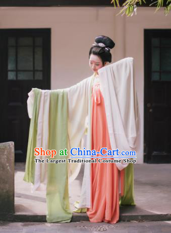 Traditional Chinese Tang Dynasty Princess Costume Ancient Palace Maidenform Hanfu Dress for Women