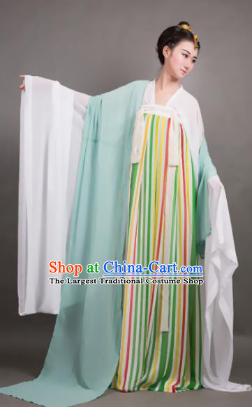 Traditional Chinese Tang Dynasty Maidenform Dance Hanfu Dress Ancient Palace Princess Costume for Women