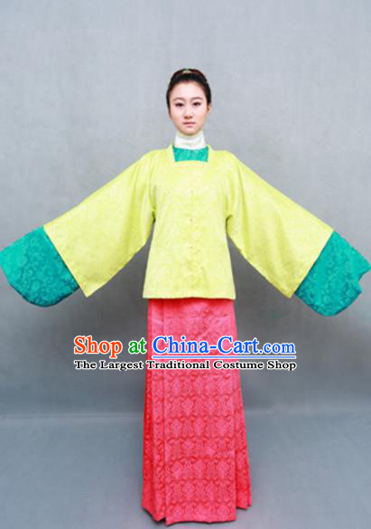 Traditional Chinese Ming Dynasty Maidenform Hanfu Dress Ancient Marquise Costume for Women