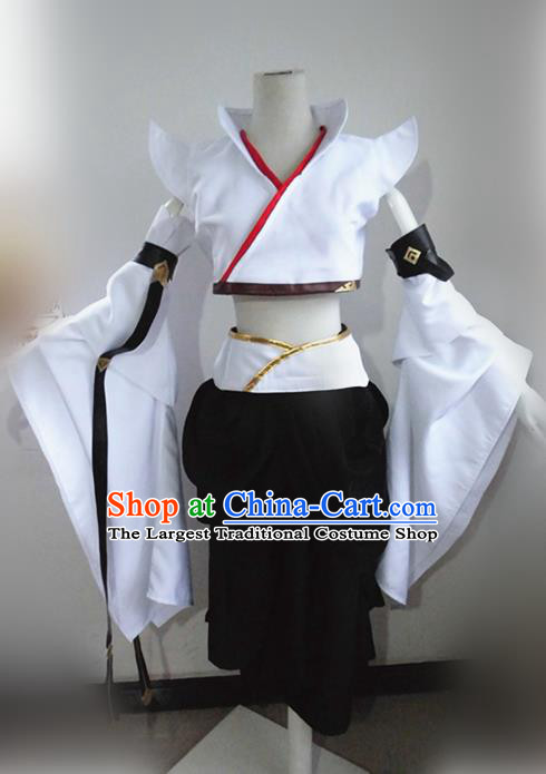 Asian Chinese Cosplay Peri Young Lady Costume Ancient Swordswoman Dress for Women