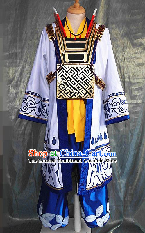 Asian Chinese Cosplay Warrior Costume Ancient Swordsman Clothing for Men