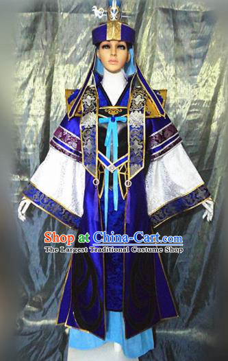 Asian Chinese Cosplay Customized Crown Prince Costume Ancient Swordsman Clothing for Men