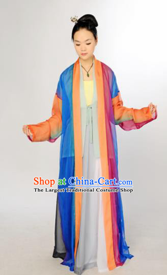 Traditional Chinese Song Dynasty Countess Costume Ancient Maidenform Curving-Front Robe for Women