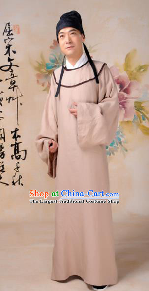 Chinese Traditional Tang Dynasty Scholar Costumes Ancient Minister Robe for Men