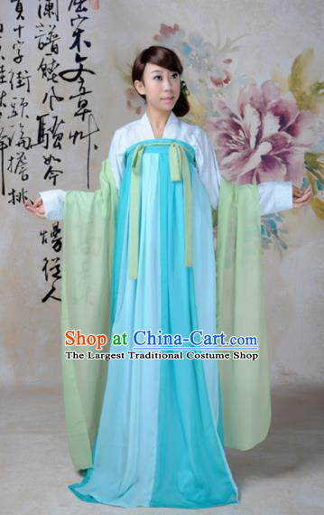 Traditional Chinese Tang Dynasty Palace Dance Costume Ancient Princess Hanfu Dress for Women
