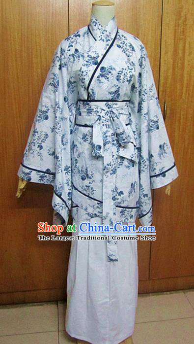 Traditional Chinese Han Dynasty Palace Lady Hanfu Dress Ancient Princess Costume for Women