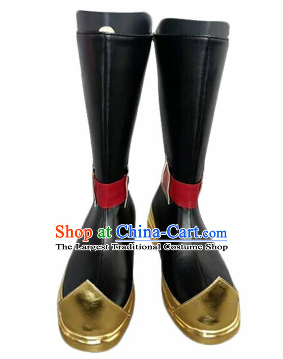 Asian Chinese Cosplay Cartoon General Shoes Ancient Swordsman Boots for Men