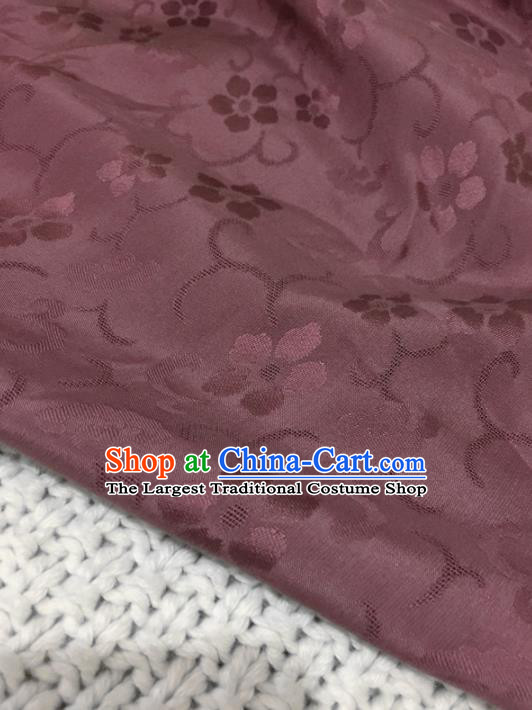 Asian Chinese Traditional Rust Red Silk Fabric Royal Pattern Brocade Cheongsam Cloth Silk Fabric