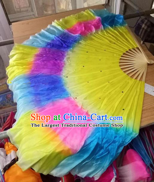 Traditional Chinese Crafts Folding Fan China Folk Dance Fans Silk Fans