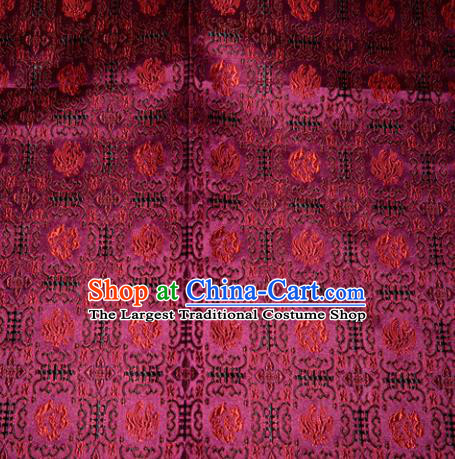 Chinese Traditional Rosy Silk Fabric Tang Suit Brocade Cheongsam Pattern Cloth Material Drapery