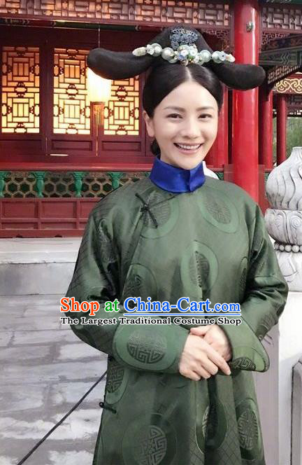Ancient Chinese Qing Dynasty Imperial Consort Ruyi Royal Love in the Palace Costumes and Headpiece for Women