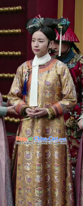 Ruyi Royal Love in the Palace Chinese Ancient Qing Dynasty Manchu Empress Costumes and Headpiece for Rich Women
