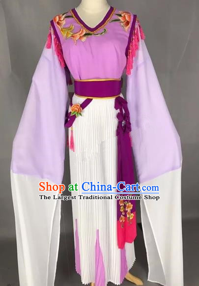 Chinese Traditional Beijing Opera Young Lady Purple Dress Peking Opera Diva Costumes for Adults