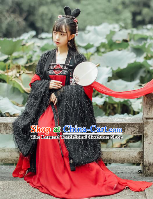 Chinese Traditional Tang Dynasty Historical Costumes Ancient Princess Hanfu Dress for Women