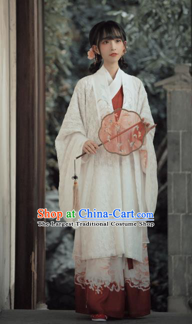 Chinese Traditional Ming Dynasty Palace Princess Replica Costumes Ancient Peri Hanfu Dress for Women