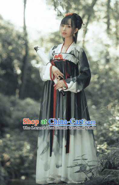 Traditional Chinese Tang Dynasty Palace Princess Replica Costumes Ancient Peri Hanfu Dress for Women