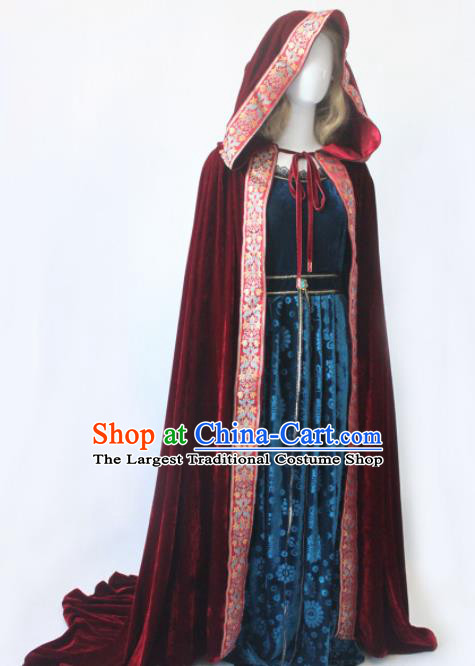 Top Grade Halloween Costumes Fancy Ball Cosplay Fairy Princess Red Cloak for Women