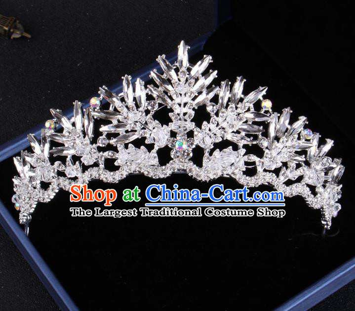 Top Grade Gothic Hair Accessories Catwalks Princess Crystal Royal Crown for Women