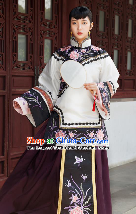 Traditional Chinese Qing Dynasty Nobility Lady Xiuhe Suits Ancient Drama Costumes for Women