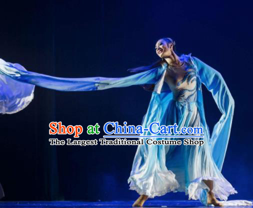 Chinese Traditional Classical Dance Group Dance Costumes Stage Performance Water Sleeve Dress for Women