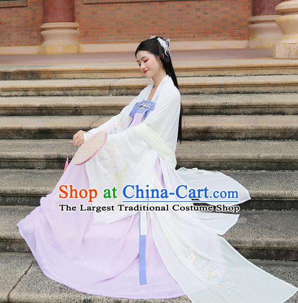 Chinese Ancient Tang Dynasty Princess Historical Costumes Traditional Hanfu Dress for Women