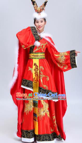 Chinese Traditional Classical Dance Costumes Han Dynasty Imperial Concubine Wang Zhaojun Dance Dress for Women