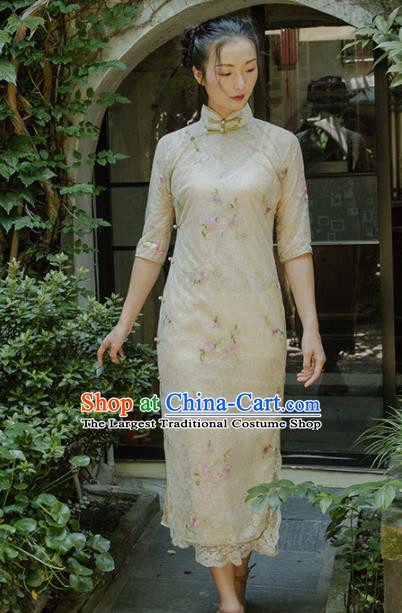 Chinese Traditional Costumes National Qipao Dress Classical Silk Cheongsam for Women
