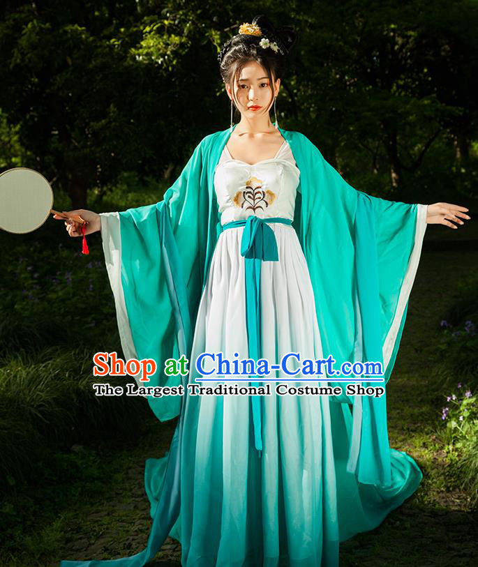 Traditional Chinese Ancient Imperial Consort Costumes Tang Dynasty Drama Concubine Yang Hanfu Dress for Women