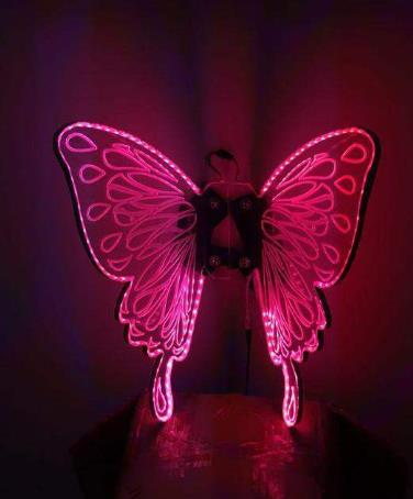 Top LED Lights Luminous Big Wings Butterfly Dance Costumes Butterfly Dancing Costume Complete Set