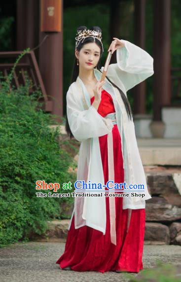 Chinese Traditional Song Dynasty Nobility Lady Hanfu Dress Ancient Palace Historical Costumes for Women