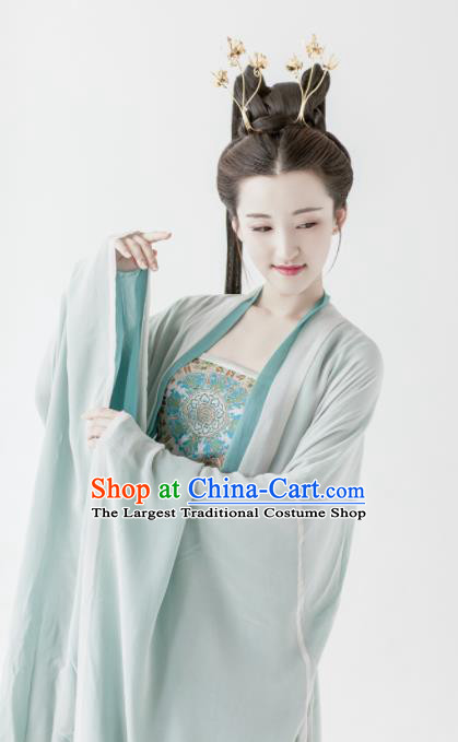 Traditional Chinese Ancient Peri Princess Hanfu Dress Tang Dynasty Palace Lady Silk Historical Costumes Complete Set