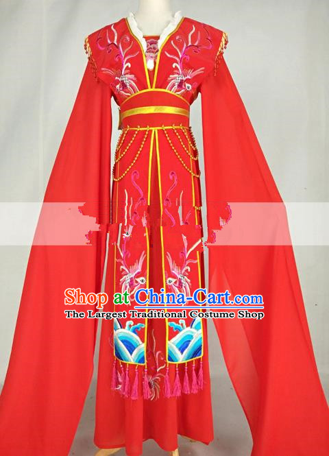 Professional Chinese Traditional Beijing Opera Diva Red Dress Ancient Nobility Lady Costumes for Women