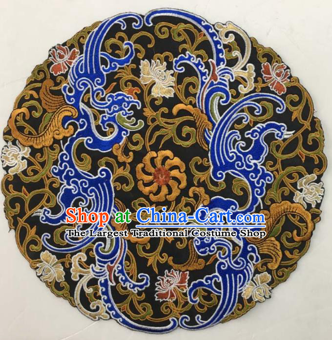 Chinese Traditional National Embroidered Chrysanthemum Applique Dress Patch Embroidery Cloth Accessories