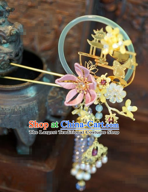 Traditional Chinese Handmade Court Tassel Hairpins Hair Accessories Ancient Queen Hanfu Hair Clip for Women