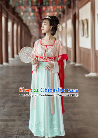 Traditional Chinese Tang Dynasty Court Princess Replica Costumes Ancient Rich Lady Hanfu Dress for Women