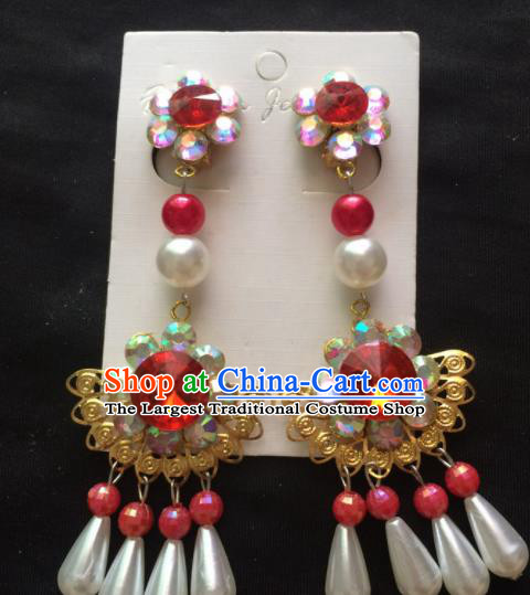 Chinese Beijing Opera Diva Earrings Traditional Peking Opera Princess Ear Accessories for Women