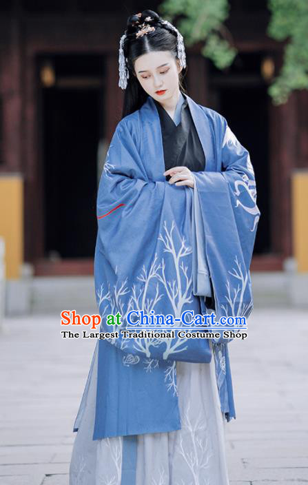 Traditional Chinese Jin Dynasty Imperial Concubine Replica Costumes Ancient Court Lady Hanfu Dress for Women