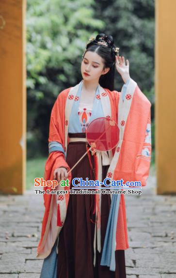 Traditional Chinese Song Dynasty Imperial Concubine Replica Costumes Ancient Court Princess Hanfu Dress for Women