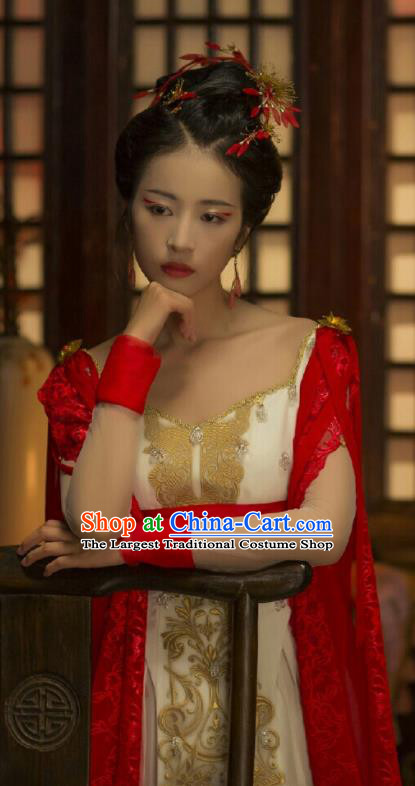 Ancient Chinese Song Dynasty Court Dance Hanfu Dress Drama Young Blood Palace Lady Costumes for Women