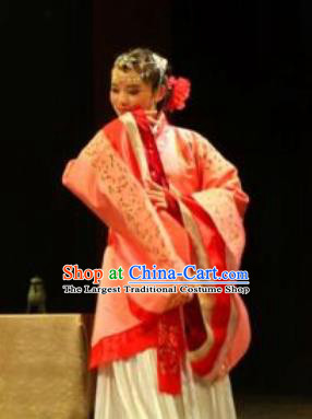 Chinese Drama Yuan Qu Ancient Court Dance Red Dress Stage Performance Costume and Headpiece for Women