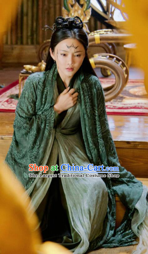 Chinese Drama Ancient Queen Dress Love and Destiny Ling Yue Replica Costumes and Headpiece for Women