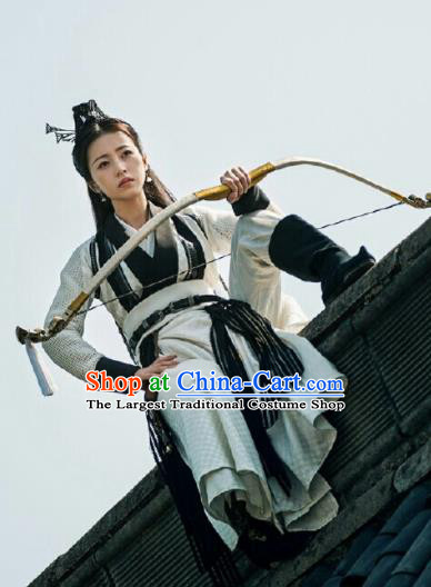 Ancient Chinese Song Dynasty Royal Infanta Dress Drama Young Blood Female Swordsman Zhao Jian Costumes for Women