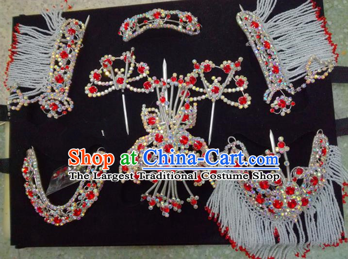 Chinese Traditional Beijing Opera Hair Accessories Peking Opera Diva Butterfly Hairpins Complete Set for Adults