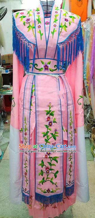 Chinese Traditional Beijing Opera Young Lady Costume Peking Opera Diva Pink Dress for Adults