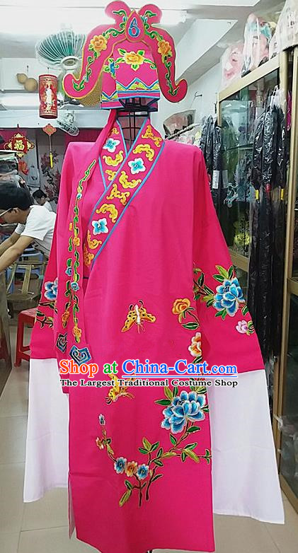 Chinese Traditional Beijing Opera Niche Costume Peking Opera Nobility Childe Rosy Robe for Adults